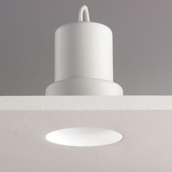 Astro Trimless Round GU10 White Bathroom Downlight