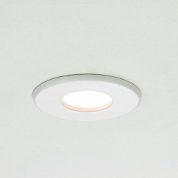 Astro Kamo GU10 White Bathroom Downlight