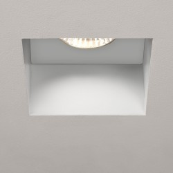 Astro Trimless Square GU10 White Bathroom Downlight