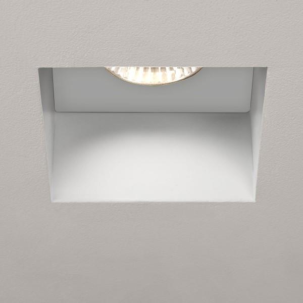 Astro Trimless Square GU10 White Bathroom Downlight