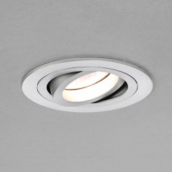 Astro Taro Round GU10 Brushed Aluminium Fire-Rated Adjustable Downlight