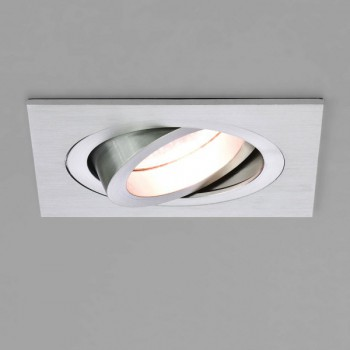Astro Taro Square GU10 Brushed Aluminium Fire-Rated Adjustable Downlight