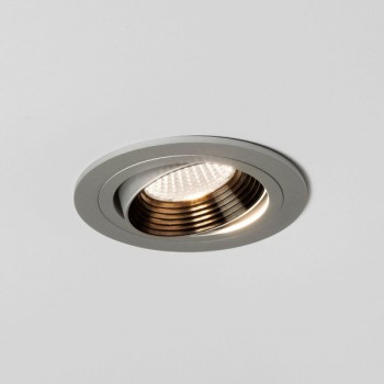 Astro Aprilia 7W 3000K Round Anodised Aluminium Adjustable LED Downlight
