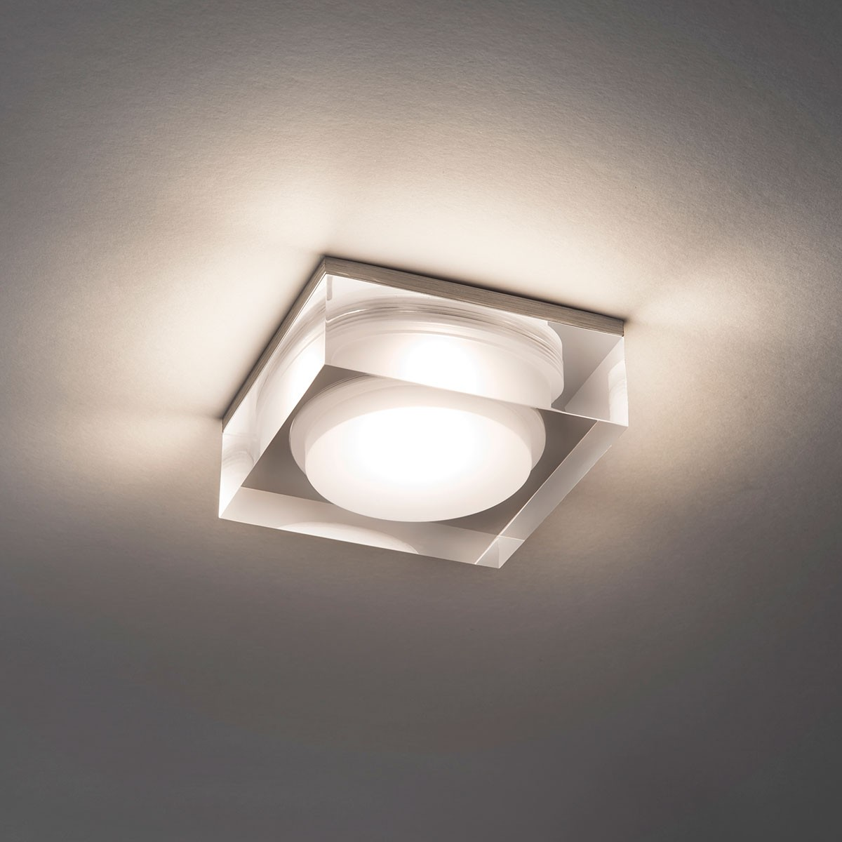 astro vancouver 90 square led polished chrome bathroom downlight at uk
