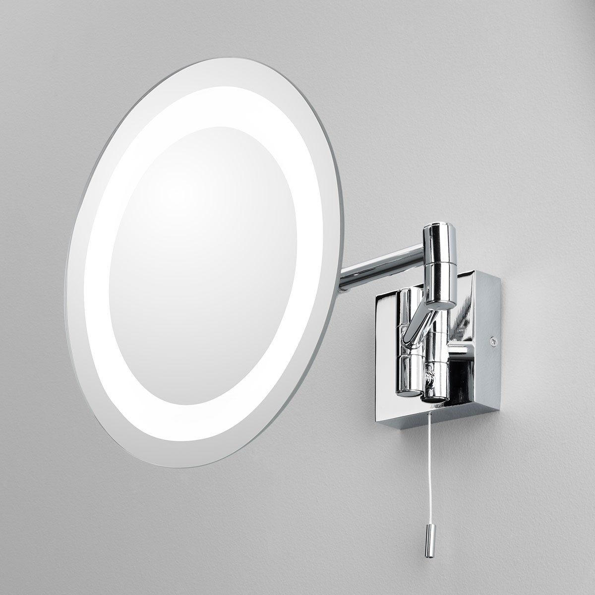 Astro genova polished chrome bathroom mirror light at uk electrical supplies Polished chrome bathroom mirrors