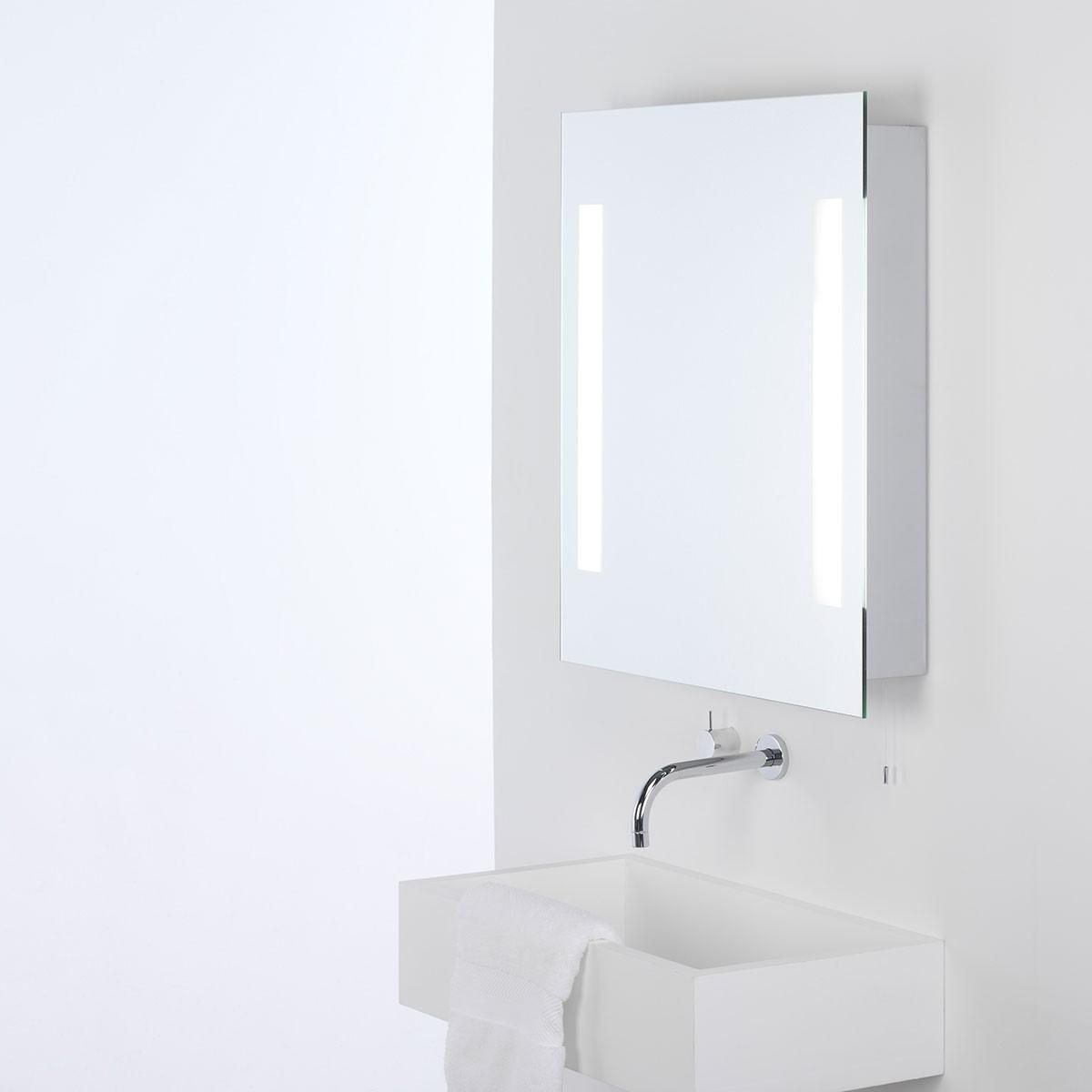 Bathroom Mirror Lights Uk: Astro Livorno Painted Silver Bathroom Mirror Light At UK
