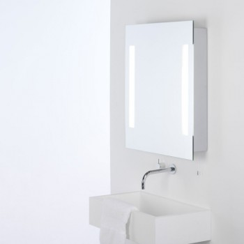 Astro Livorno Painted Silver Bathroom Mirror Light