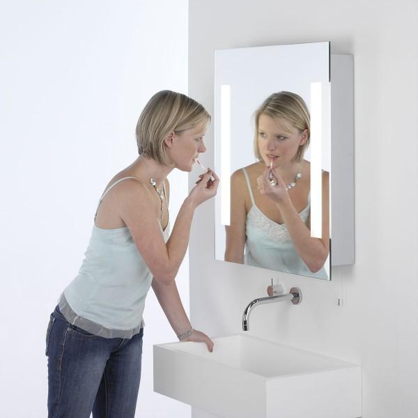 Astro Livorno Painted Silver Bathroom Mirror Light