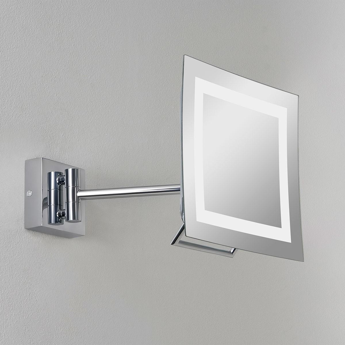 Astro Niro Plus Polished Chrome Bathroom Mirror Light at