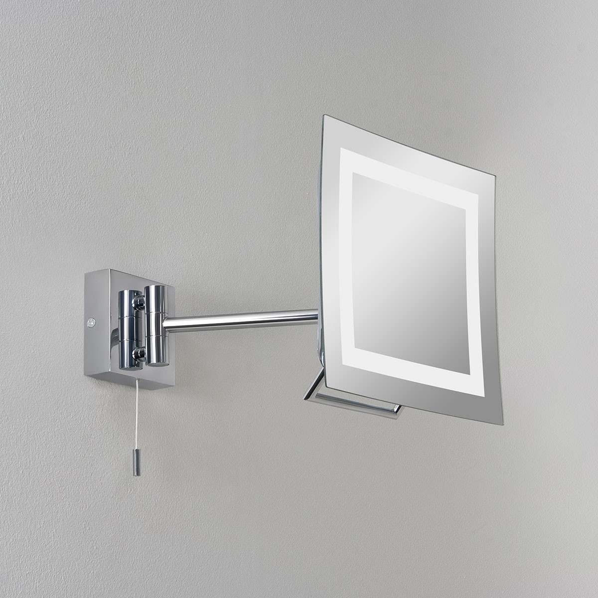 Astro niro polished chrome bathroom mirror light at uk for Bathroom mirror with lights
