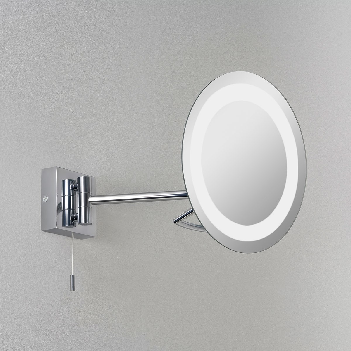 Astro gena polished chrome bathroom mirror light at uk electrical supplies Polished chrome bathroom mirrors