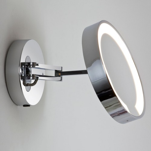 Astro catena polished chrome bathroom mirror light at uk Polished chrome bathroom mirrors