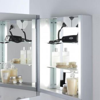 Astro Livorno Shaver Painted Silver Bathroom Mirror Light