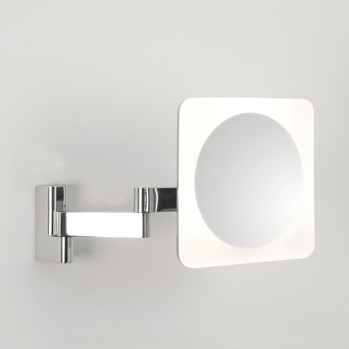 Astro niimi square polished chrome led bathroom mirror light at uk electrical supplies Polished chrome bathroom mirrors