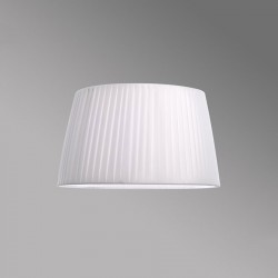 Astro Tag 400 Pleated White Fabric Shade