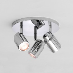 Astro Como Triple Round Polished Chrome Bathroom Spotlight