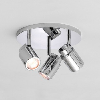 Astro Como Triple Round Polished Chrome Bathroom Spotlight