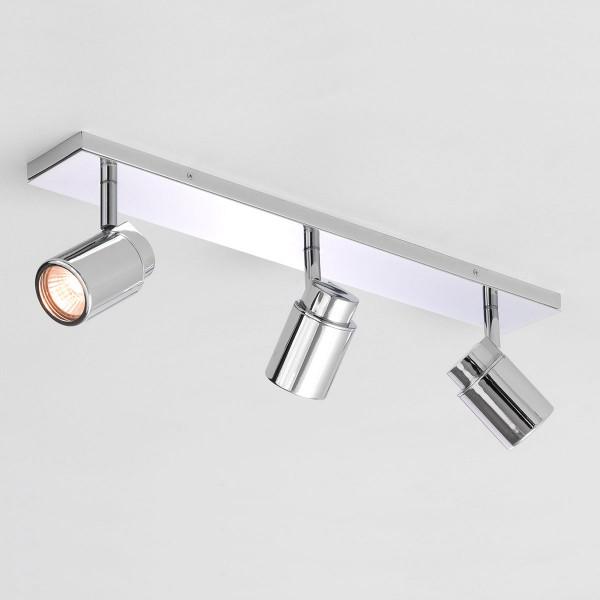 Astro Como Triple Bar Polished Chrome Bathroom Spotlight