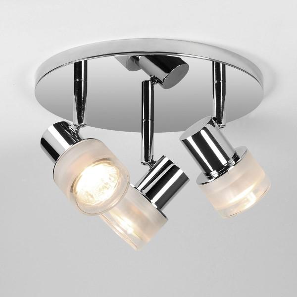 Astro Tokai Triple Round Polished Chrome Bathroom Spotlight