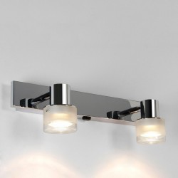 Astro Tokai Twin Polished Chrome Bathroom Spotlight