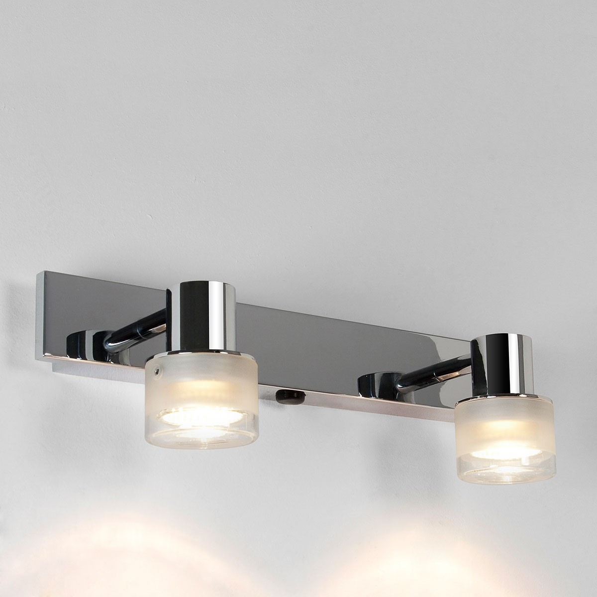 Astro tokai twin polished chrome bathroom spotlight at uk electrical supplies Polished chrome bathroom mirrors