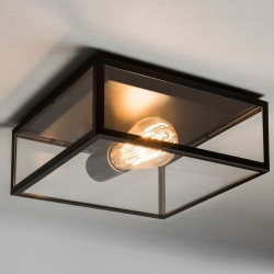 Astro Bronte Matt Black Outdoor Ceiling Light