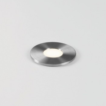 Astro Terra 28 Round Brushed Stainless Steel Bathroom LED Wall Light