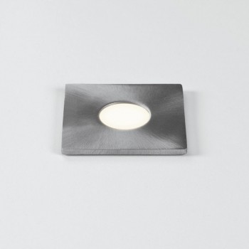 Astro Terra 28 Square Brushed Stainless Steel Bathroom LED Wall Light