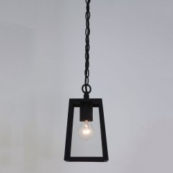 Astro Calvi 215 Textured Black Outdoor Pendant Light