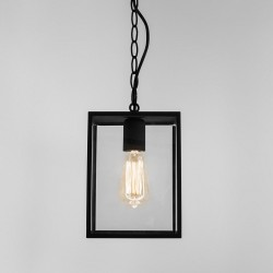 Astro Homefield Black Outdoor Pendant Light