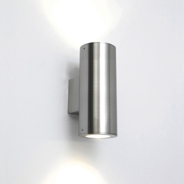 Astro Detroit Twin Brushed Stainless Steel Outdoor Wall Light