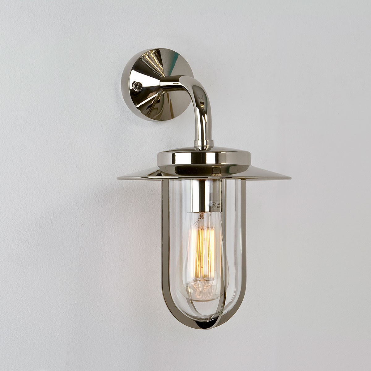 Luxury Outside Wall Lights : Astro Montparnasse Wall Polished Nickel Outdoor Wall Light at UK Electrical Supplies.
