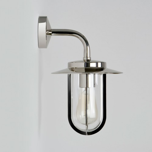 Astro Montparnasse Wall Polished Nickel Outdoor Wall Light