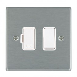 Hamilton Hartland White 1 Gang 13A Fused Spur, Double Pole with White Insert & White Switch