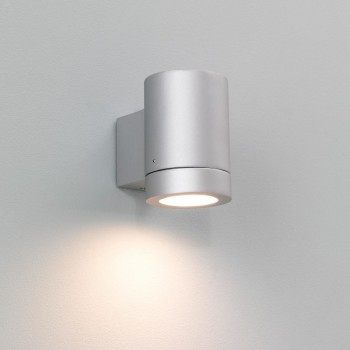 Astro Porto Plus Single Painted Silver Outdoor Wall Light