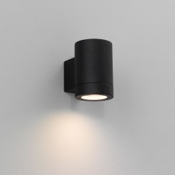 Astro Porto Plus Single Black Outdoor Wall Light