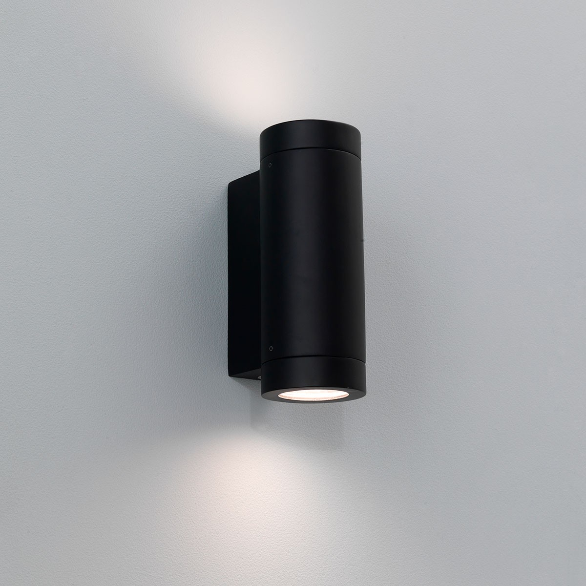 Astro porto plus twin black outdoor wall light at uk for Luminaire exterieur