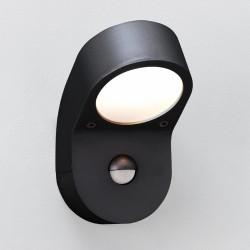 Astro Soprano PIR Black Outdoor Wall Light with PIR