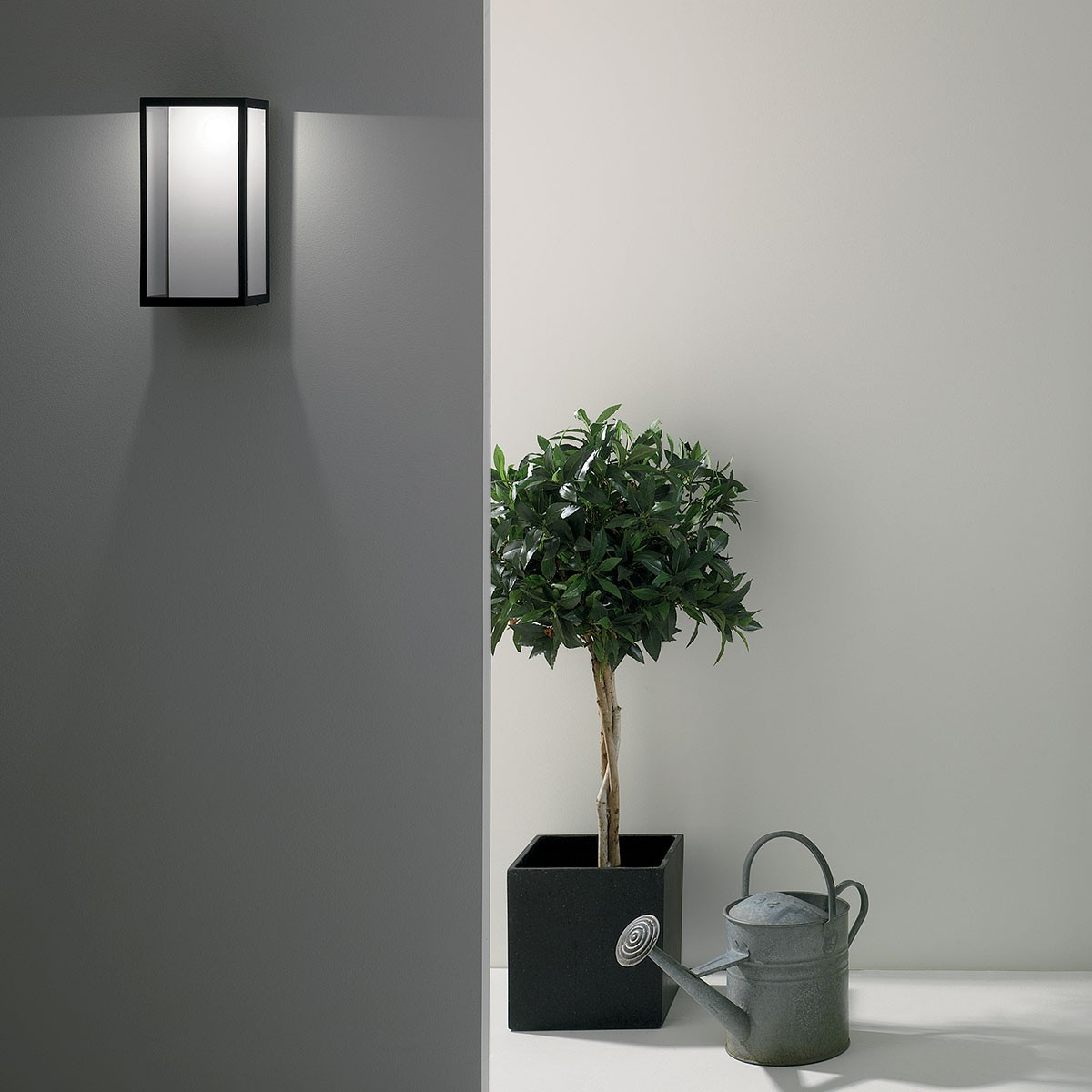 Luxury Exterior Wall Lights : Astro Puzzle Black Outdoor LED Wall Light at UK Electrical Supplies.