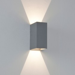 Astro Oslo 160 Painted Silver Outdoor LED Wall Light