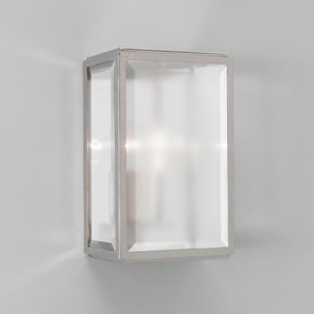 Astro Homefield Polished Nickel Outdoor Wall Light with Frosted Glass