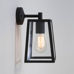 Astro Calvi 215 Textured Black Outdoor Wall Light