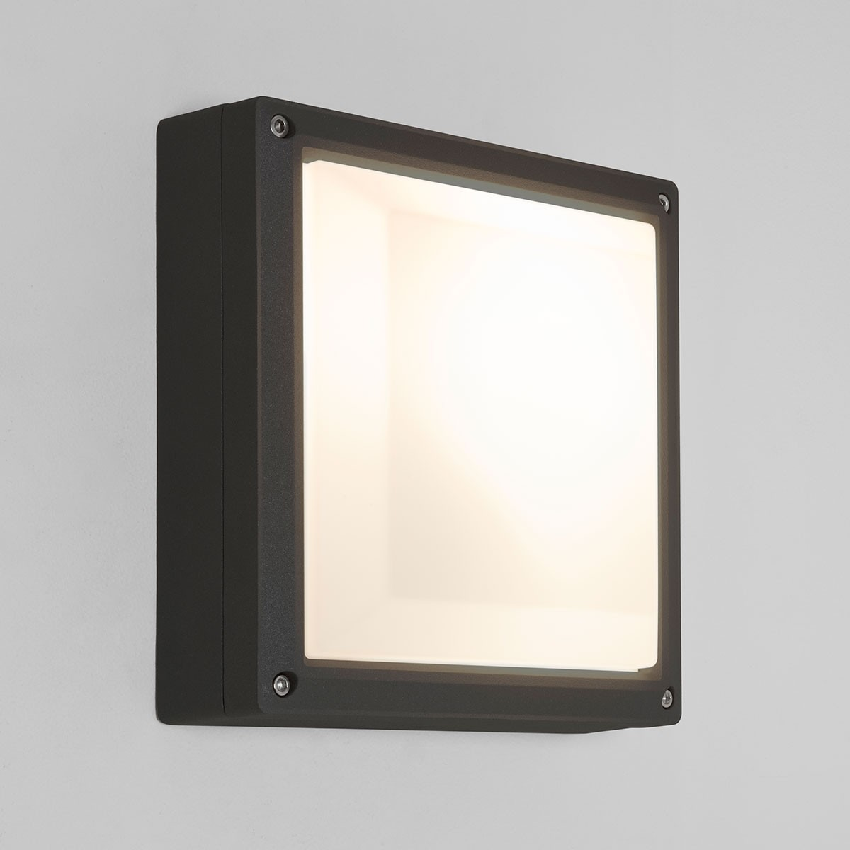 Astro Arta 210 Square Black Outdoor Wall Light at UK Electrical Supplies.