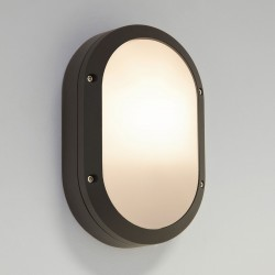 Arta Oval Black Outdoor Wall Light