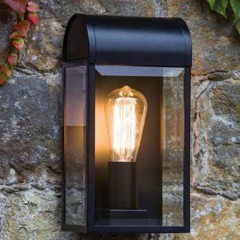 Astro Newbury Textured Black Outdoor Wall Light