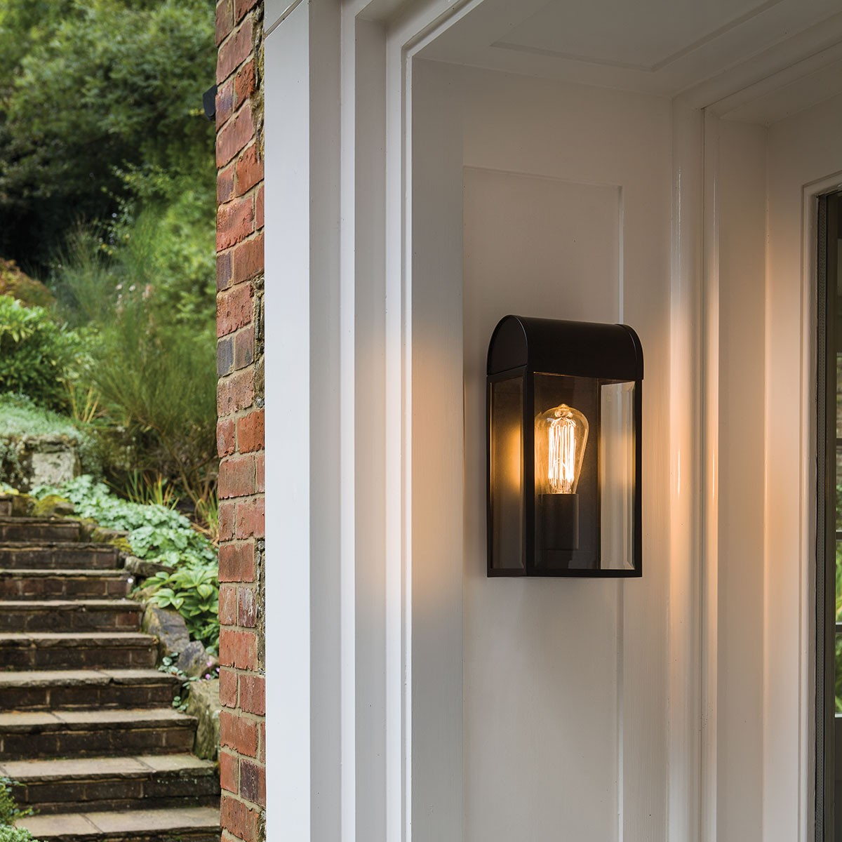 astro newbury black outdoor wall light at uk electrical. Black Bedroom Furniture Sets. Home Design Ideas