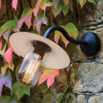 Astro Dafni Black Outdoor Wall Light
