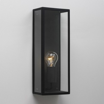 Astro Messina 130 Textured Black Outdoor Wall Light