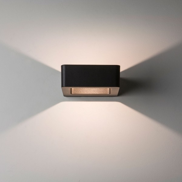 Astro Napier Wall LED Black Outdoor Wall Light
