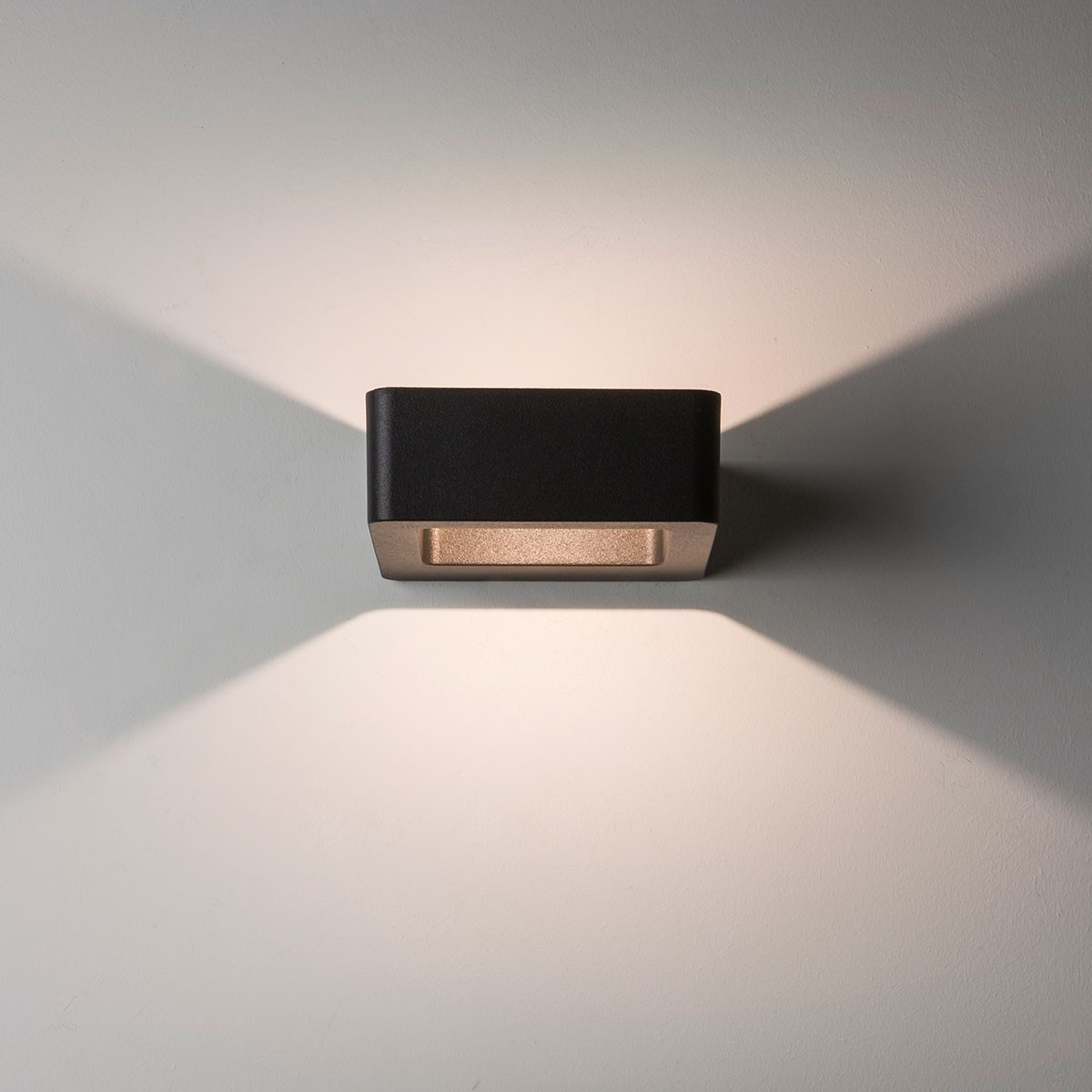 Luxury Exterior Wall Lights : Astro Napier Wall LED Black Outdoor Wall Light at UK Electrical Supplies.
